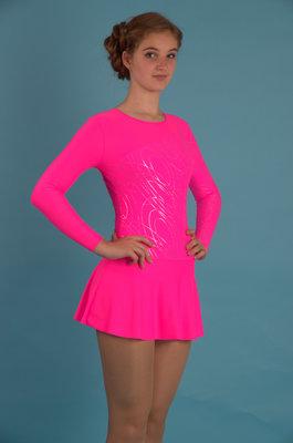 Г 2.11 Купальник гимнастический для девочек с юбкой (фото, Розовый)
