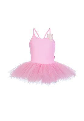 ГП 1.01 Купальник гимнастический для девочек с юбкой (фото, Розовый)