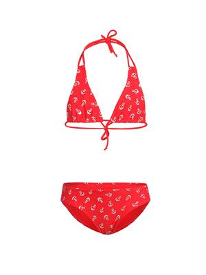 К 6.31 Купальник двухпредметный для девочек (фото, Красный)
