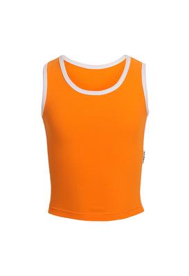 М 9.3 Топ-майка для девочек (фото, оранжевый)