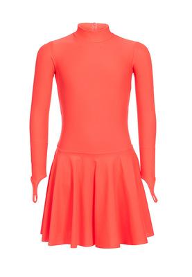Р 2.71 Платье спортивное для девочек (фото, оранжевый)