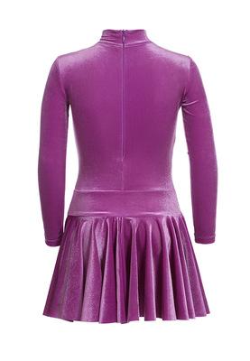 Р 2.81 Платье спортивное для девочек (фото, фиолетовый)