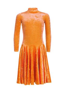 Р 3.8 Платье спортивное для девочек (фото, оранжевый)