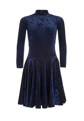 Р 3.8 Платье спортивное для девочек (фото, Темно-синий)