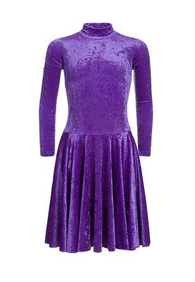 Р 3.8 Платье спортивное для девочек (фото, Фиолетовый)