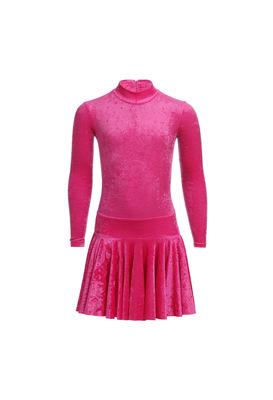 Р 2.8 Платье спортивное для девочек (фото, Малиновый)