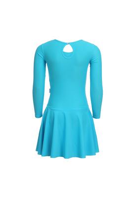 Р 2.9 Платье спортивное для девочек (фото, Голубой)