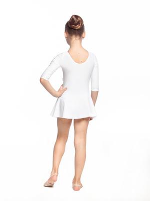 Г 2.00 Купальник гимнастический для девочек с юбкой (фото, Белый)