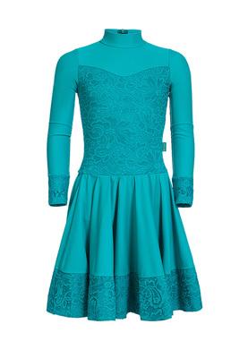 Р 7.4 Платье спортивное для девочек (фото, Голубой)