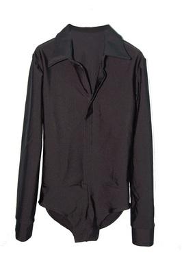 Р 1.04 Рубашка-боди для мальчиков (фото, Черный)