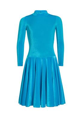 Р 3.81 Платье спортивное для девочек (фото, Бирюзовый)
