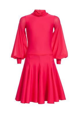 Р 4.6 Платье спортивное для девочек (фото, Малиновый)