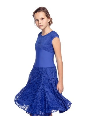 Р 7.5 Платье спортивное для девочек (фото, Синий)