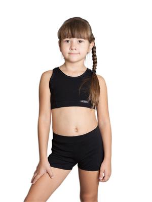 Т10.3 Топ для девочек (фото, Черный)