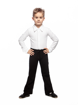 Б 4.03 Брюки гимнастические детские (фото, Черный)