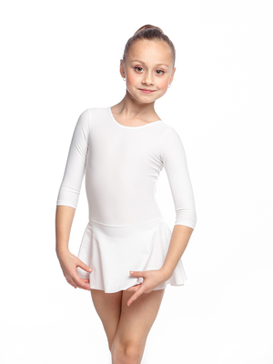 Г 2.00 Купальник гимнастический для девочек с юбкой (фото, Красный)