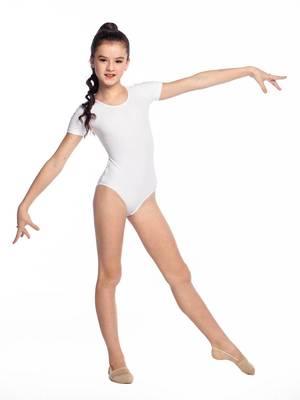 Г 2.08 Купальник гимнастический для девочек (фото, Белый)