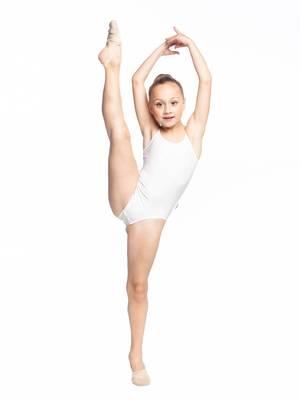 Г 4.01 Купальник гимнастический для девочек (фото, Белый)