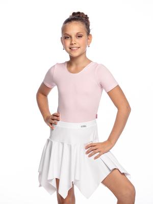 Ю 1.08 Юбка гимнастическая для девочек (фото, Белый)