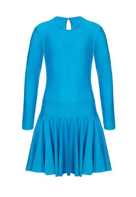 Р 2.4 Платье спортивное для девочек (фото, Голубой)