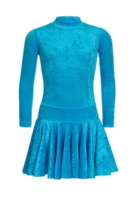 Р 2.8 Платье спортивное для девочек (фото, Бирюзовый)