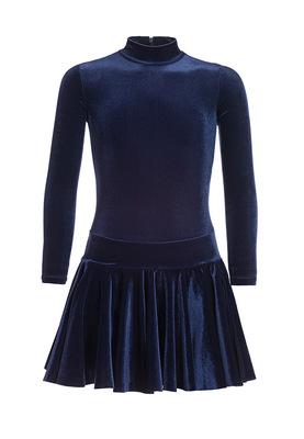 Р 2.81 Платье спортивное для девочек (фото, Темно-синий)