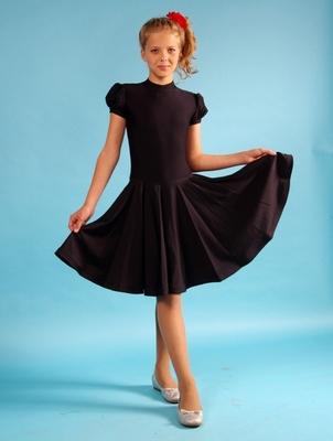 Р 4.2 Платье спортивное для девочек (фото, Черный)